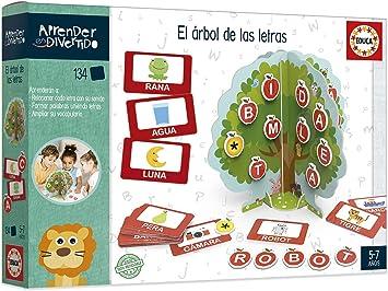 Educa- Aprender es Divertido: El Árbol de Las Letras, Aprende a Leer y Escribir Juego Educativo para niños, a Partir de 5 años (18703): Amazon.es: Juguetes y juegos
