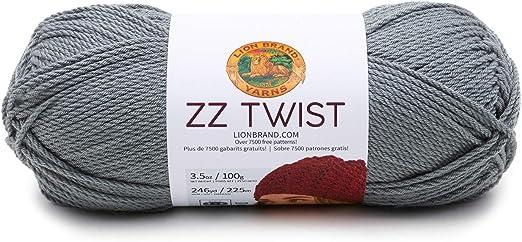 Lion Brand ZZ Twist Yarn-Taupe 3 Pack