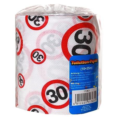 Papel higiénico 30 años regalo para el cumpleaños Longitud 25 m Papel Higiénico