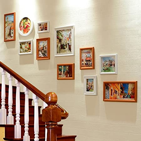 SESO UK- Multi Picture Frame Set, Stairs Wall Photo Frame, Wall ...