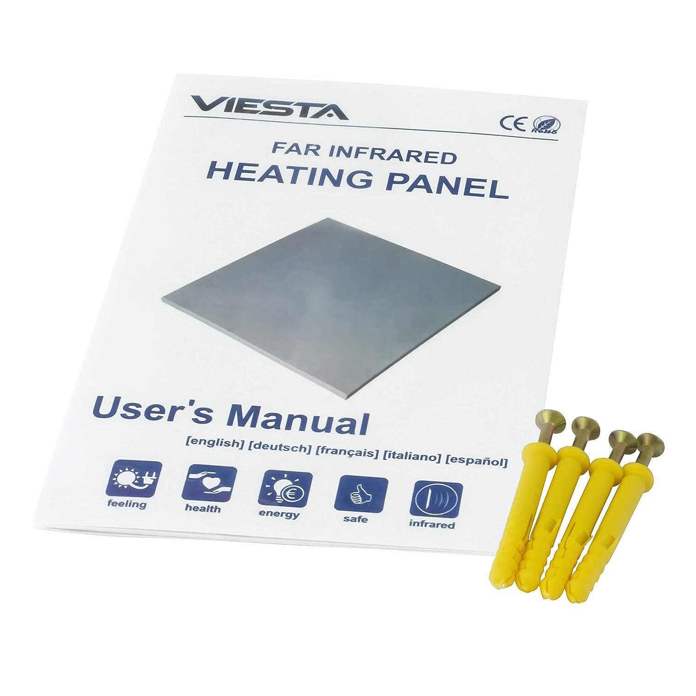 neueste Technologie Heizpaneel Heizk/örper Heizung heating panel ultraflache Wandheizung Wei/ß 900 Watt Viesta H900 Infrarotheizung Carbon Crystal