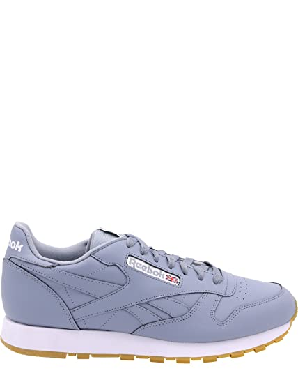 0958059209bb5 Reebok Men s Cl Lthr Gum Sneaker Meteor Grey White Gum 10.5 D(M) US ...