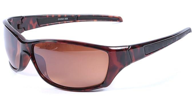 comprare on line 50b9b 220cd Occhiali da sole da uomo avvolgenti, Protezione UV400, lenti ...
