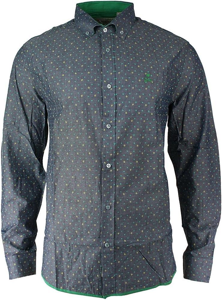 Camisa Entallada de Algodon, Manga Larga para Caballero, Ideal Verano - Gris, Large: Amazon.es: Ropa y accesorios