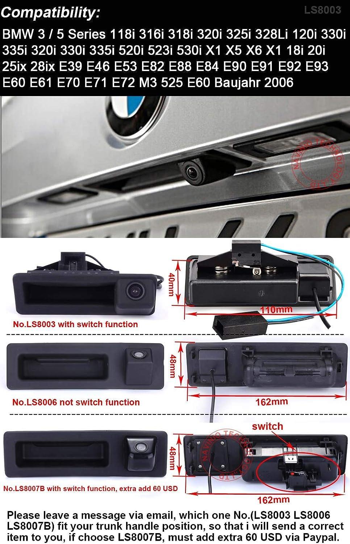 Car Camera Rear View Paking for BMW 520Li 525Li 530i 535Li 320Li switch button