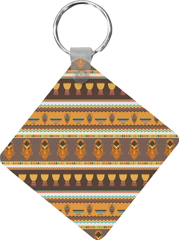 African Masks Diamond Key Chain