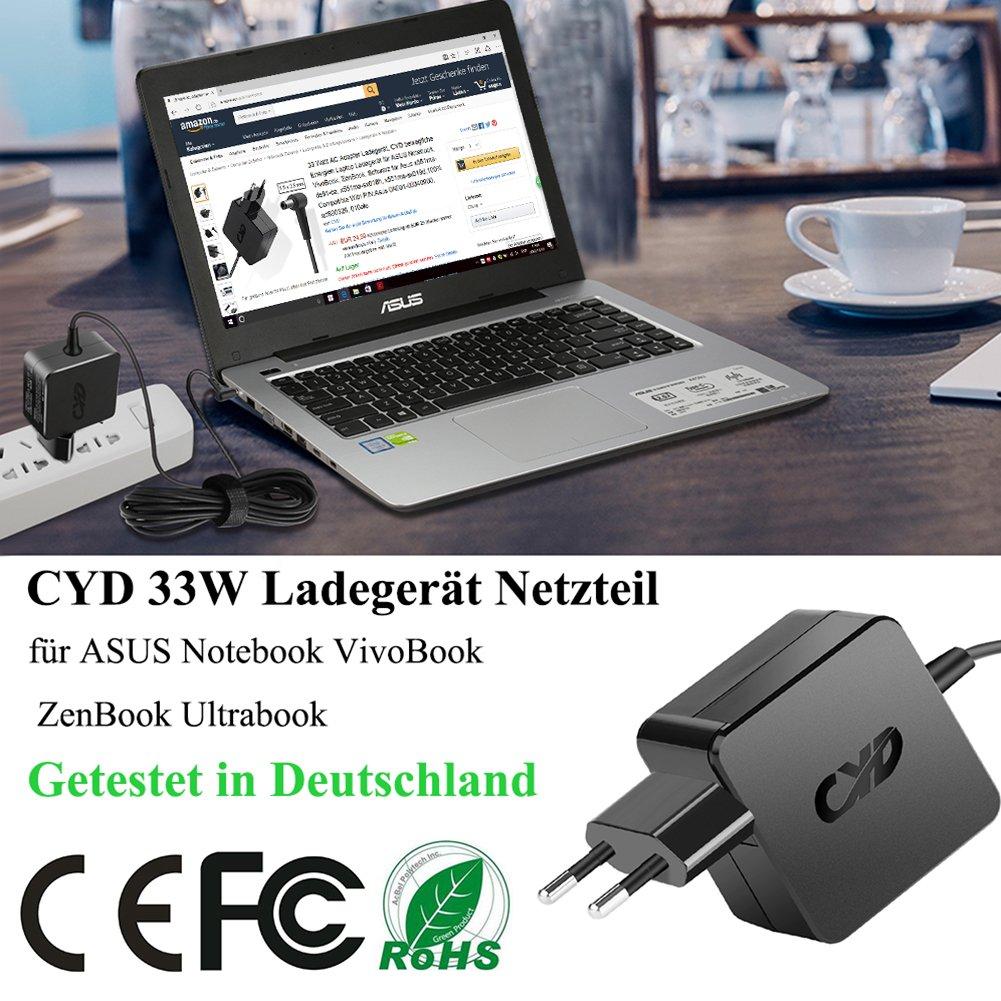 CYD 33W 19V 1.75A Portátile-Netbook-Cargador y ASUS X451m X551m F451c F550 F551c F551m x751s K751m F451ca x451ma x551ma F551ca F551ma x751sa K751ma ...