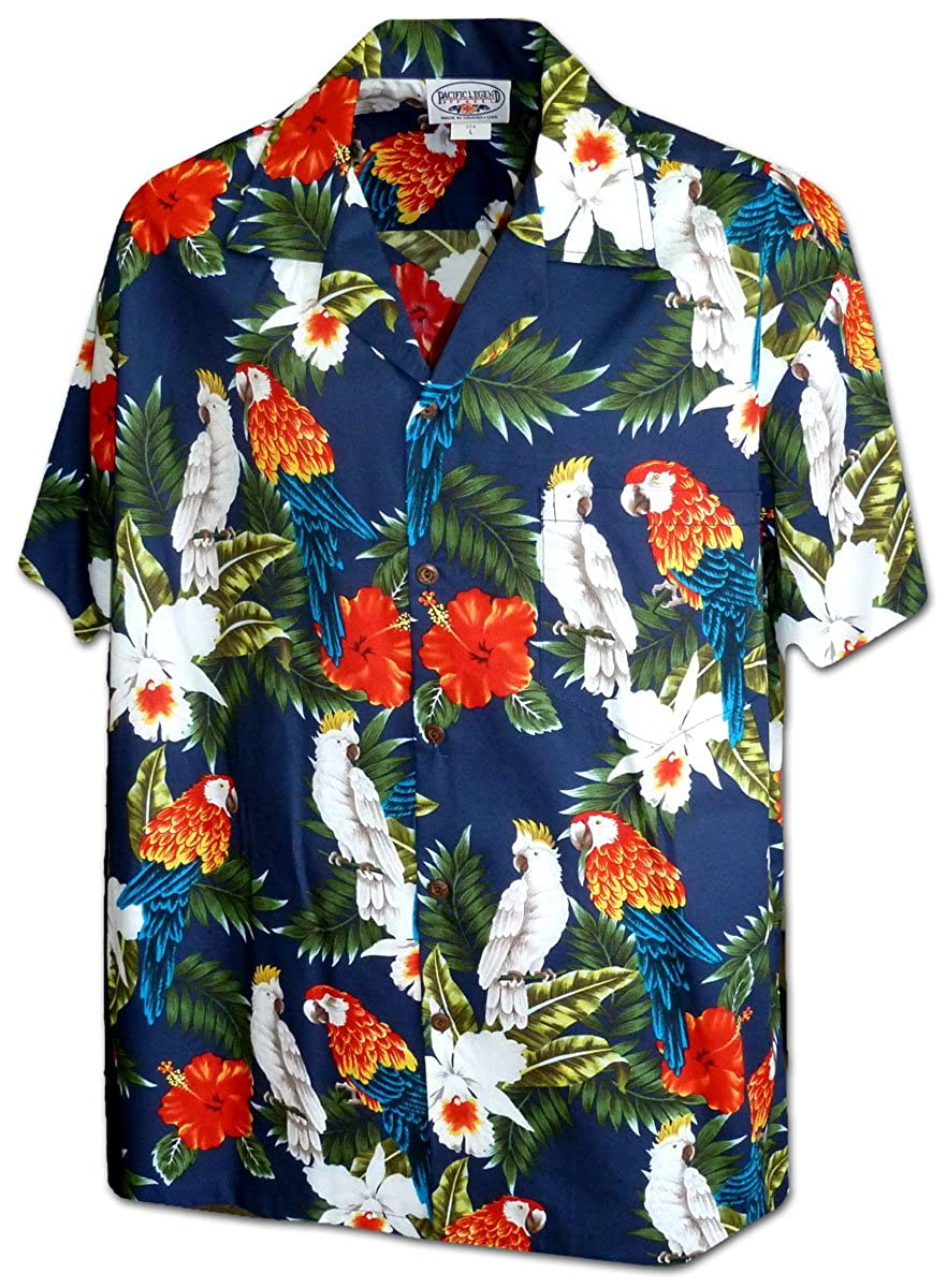 49cf528b6 Exotic Parrot and Cockatiel Men's Tropical Shirt at Amazon Men's Clothing  store: