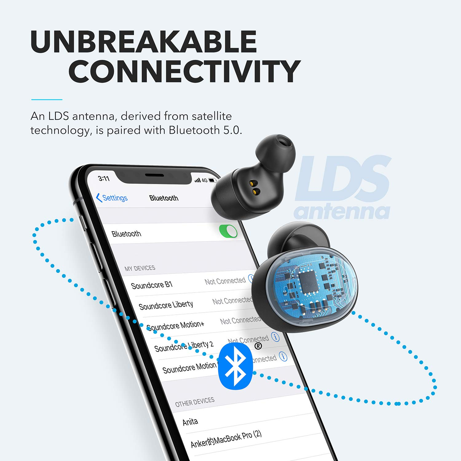 Anker Soundcore Liberty Neo, Bluetooth Earbuds, Premium Sound with Pumping Bass, Secure Fit, Bluetooth 5.0 Headphones, Stereo Calls, Noise Canceling, Easy Pairing, Sweatproof for Sports, Work Out, Gym by Soundcore (Image #7)