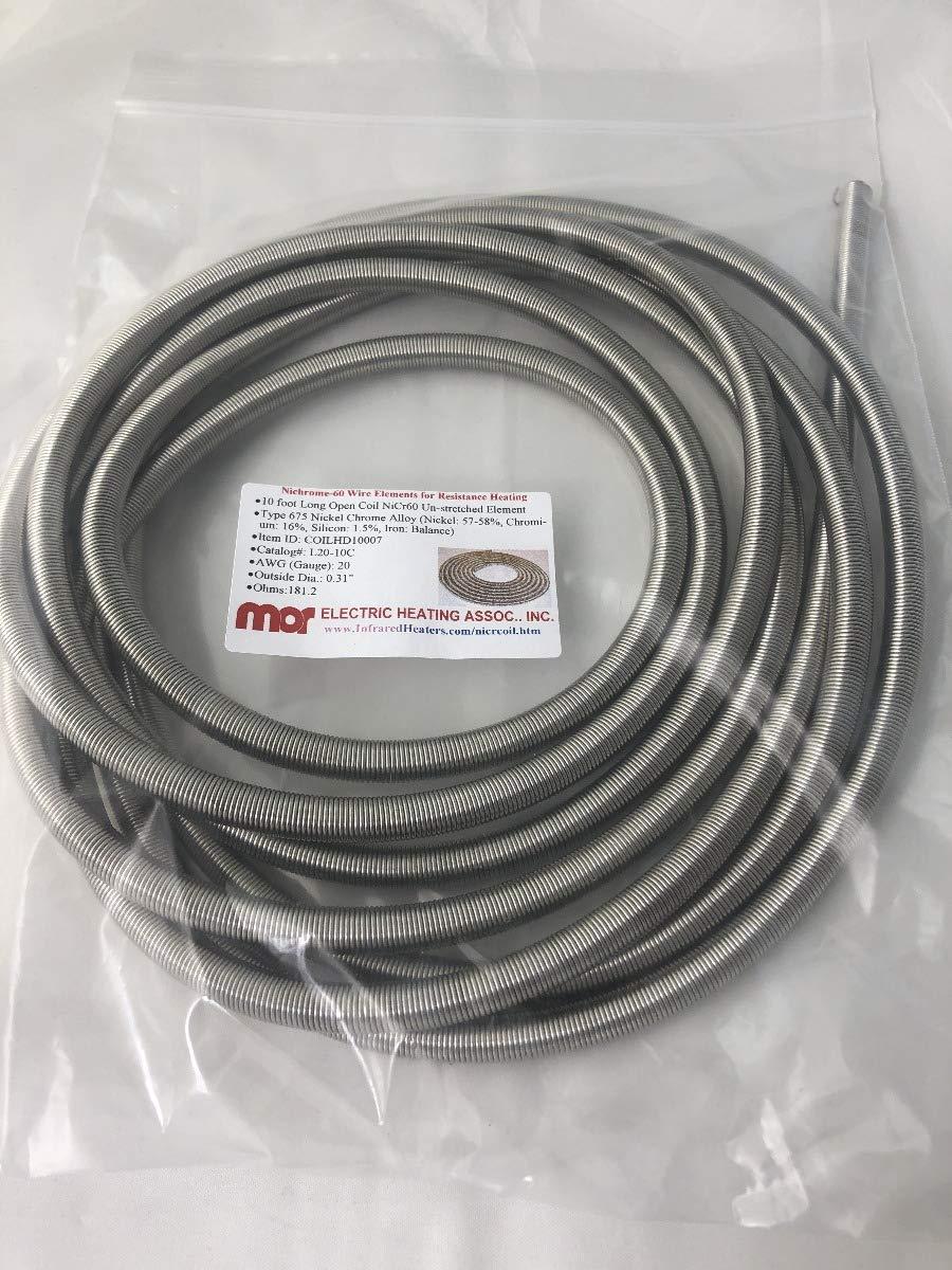L20-10C N6 .25ID 10ft Nichrome Open Coil