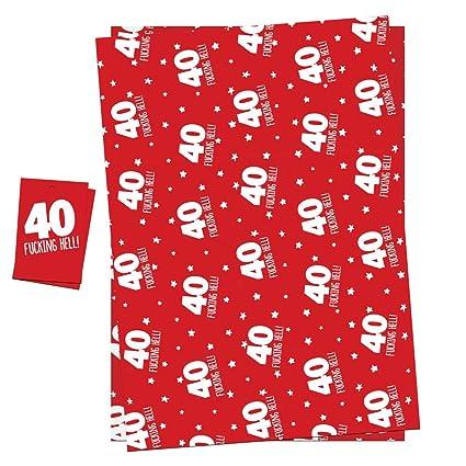 Papel de regalo para 40 cumpleaños para hombres y mujeres ...