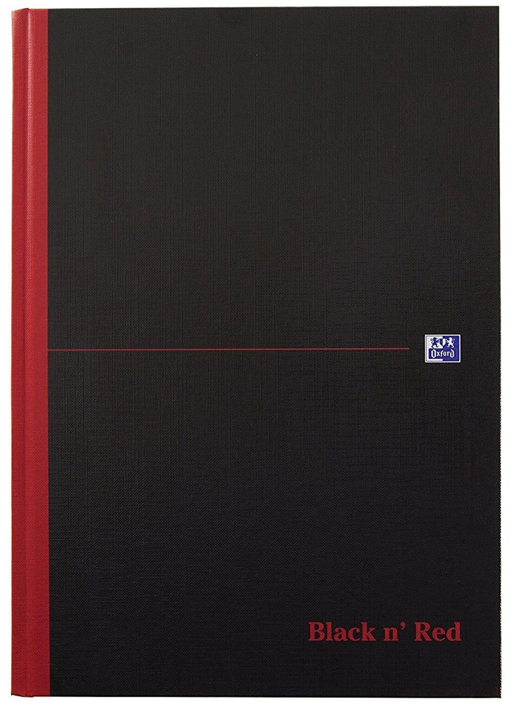 Oxford 400047656 Spiralbuch Black n' Red DIN A5 kariert flexibler Deckel 70 Blatt schwarz/rot Notizblock Schreibblock Collegeblock Hamelin GmbH