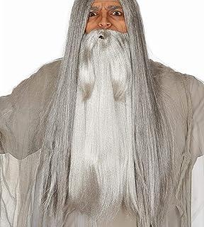 Mago Peluca en Blanco en Conjunto de con Blanco Barba para ...