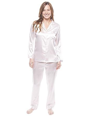 875b64858e Twin Boat Conjunto Pijama de Satín para Mujer - Perla - 3XL  Amazon.es   Ropa y accesorios