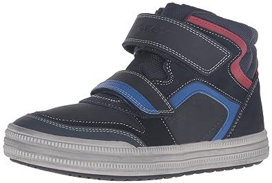 Geox Boys' Jr Elvis 32-K Sneaker, Navy/Royal, 24 EU