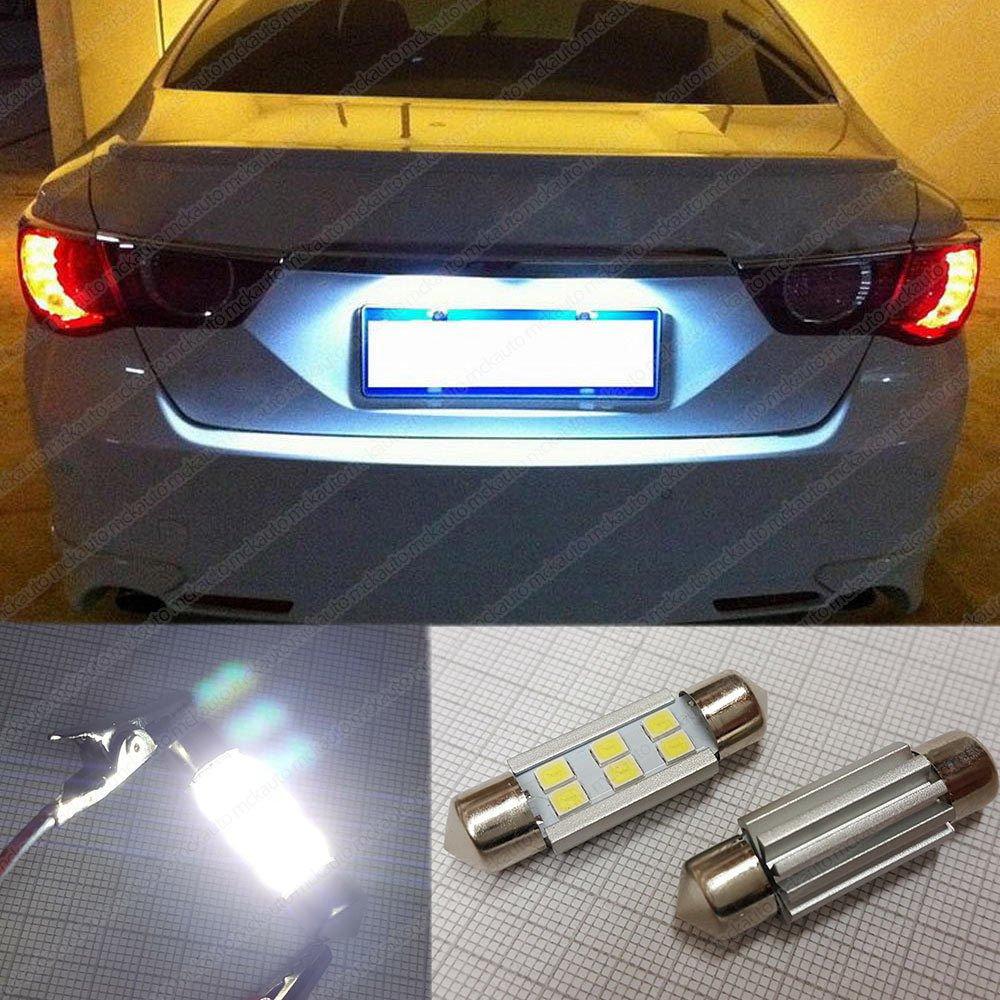 MCK Auto Reemplazo para LED CanBus de 36 mm Conjunto de bombillas blancas muy claras y sin errores compatibles con la Serie 3
