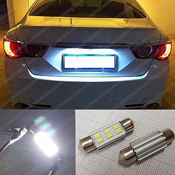 Bombillas LED 2835 Festoon EA7R2 para matrícula, 36 mm, control CANbus, luz blanca