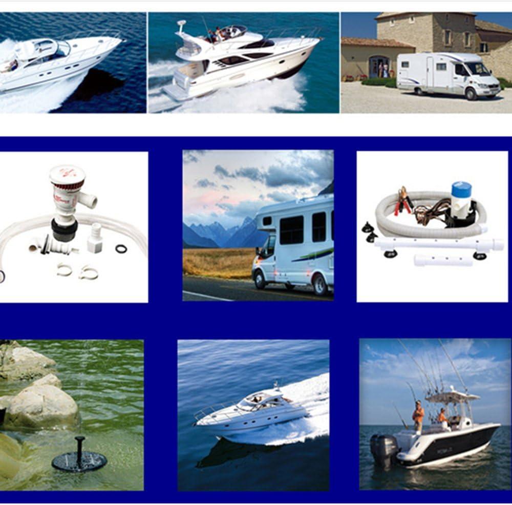 Morismoon DC 12V/24V 1100GPH - Bomba de agua sumergible automática para barco, bomba de billar automática, bomba eléctrica para barcos: Amazon.es: Bricolaje y herramientas