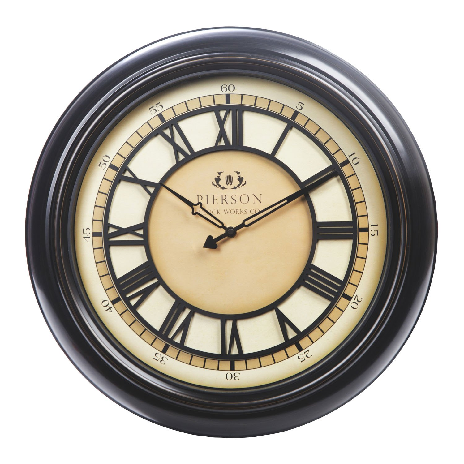 Amazon chaney instrument co 75176 wall clock with raised dial amazon chaney instrument co 75176 wall clock with raised dial 18 black home kitchen amipublicfo Choice Image