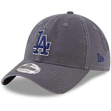 712590e436377 New Era 920 Los Angeles Dodgers Core Classic Strapback Hat (Graphite) MLB  Cap