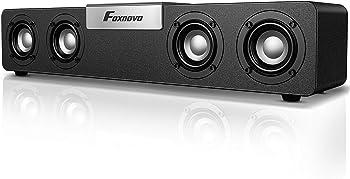 Foxnovo 20W USB Powered Wired & Wireless Gaming PC Soundbar
