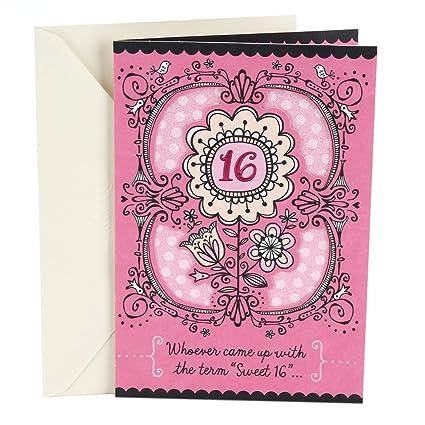 Amazon hallmark 16th birthday card for her sweet flowers hallmark 16th birthday card for her sweet flowers m4hsunfo