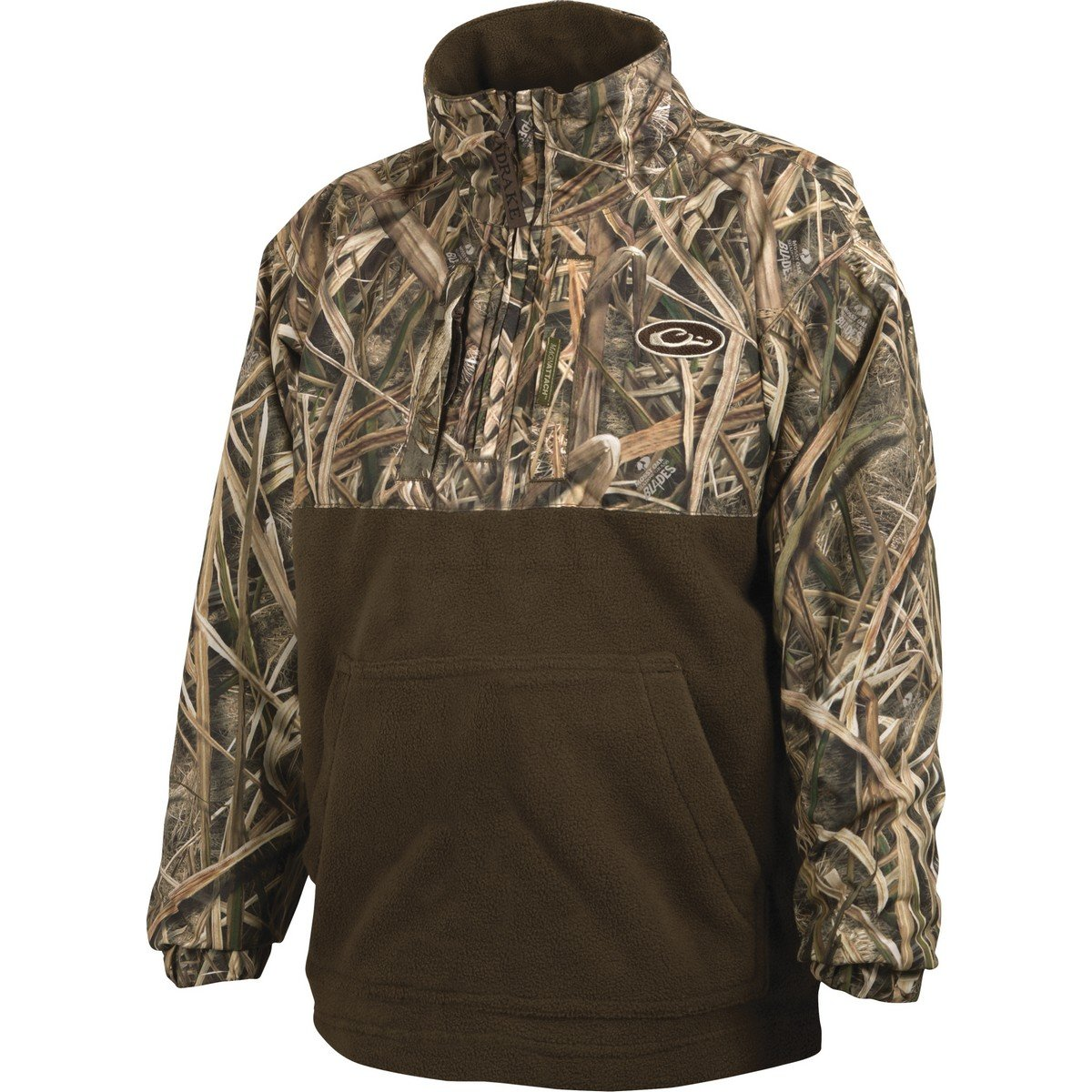 Drake Youth Max5 Camo Young Guns Eqwader Quarter Zip Pullover (MAX5 10) by Drake