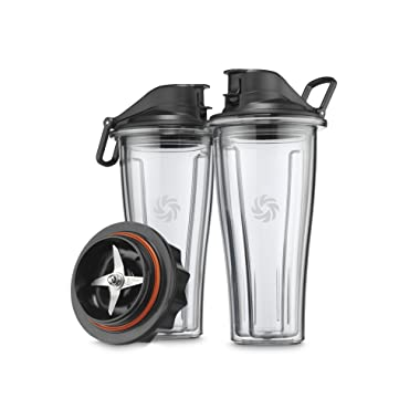 Vitamix 62850 Ascent Series Blending Cup Starter Kit, 20 oz. with SELF-DETECT, Clear