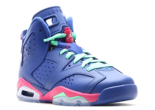 competitive price fb561 02471 ... cheap amazon air jordan 6 retro gg big kids basketball shoes gym royal  white vivid pink