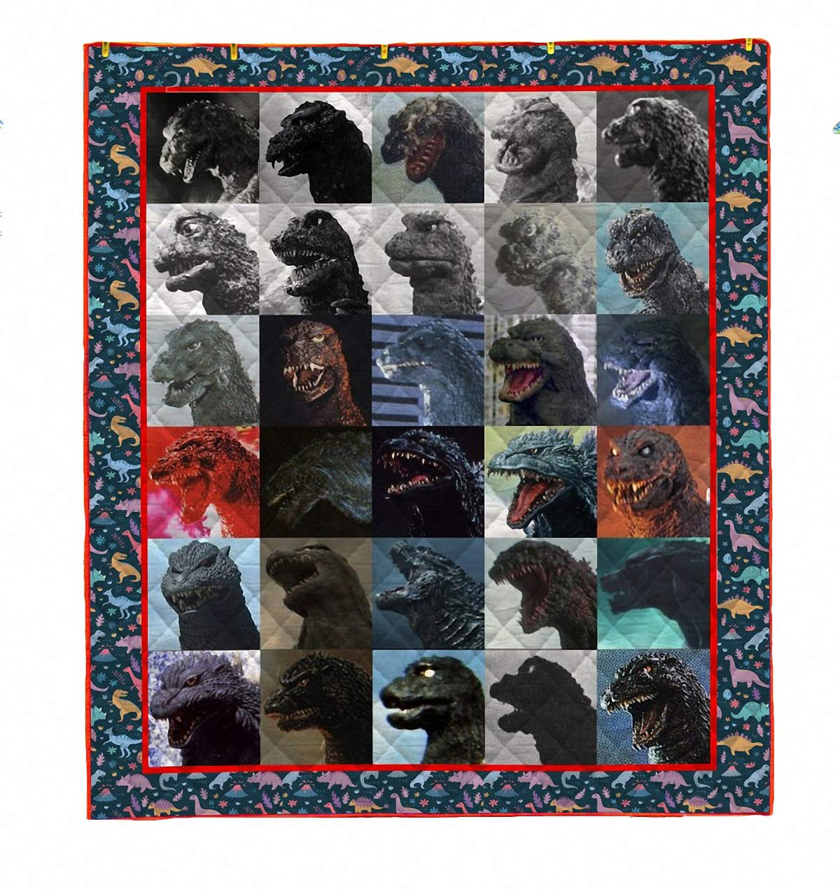 owho Summer 3D Godzilla Monste Quilt Blanket for Kids Adults Bedding Throw Soft Warm Thin Blanket with Cotton Quilt King Size by owho