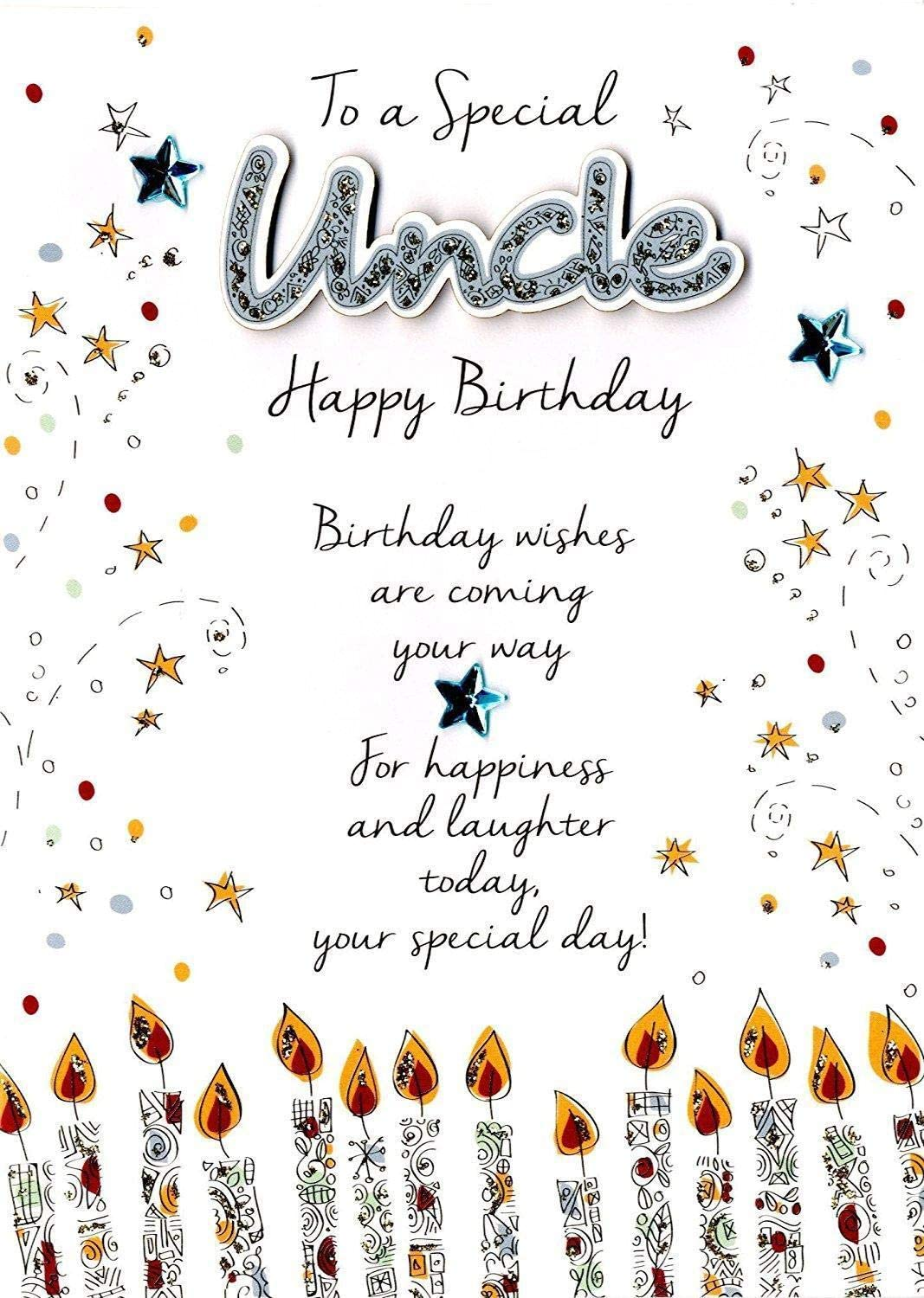 Just to Say Special Uncle Birthday Greeting Card Second Nature Just To Say  Cards