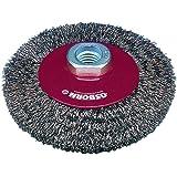 Osborn Kegelbürste pour meuleuse d'angle de 125 mm Kegelbürste d125 x 10 mm-filetage m14 x 2,0 fil d'acier ondulés 0,3 mm, rouge, 2514161 TÜV