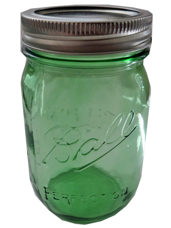 Ball Mason Jar-16 oz. Green Ball Heritage Collection-One Jar