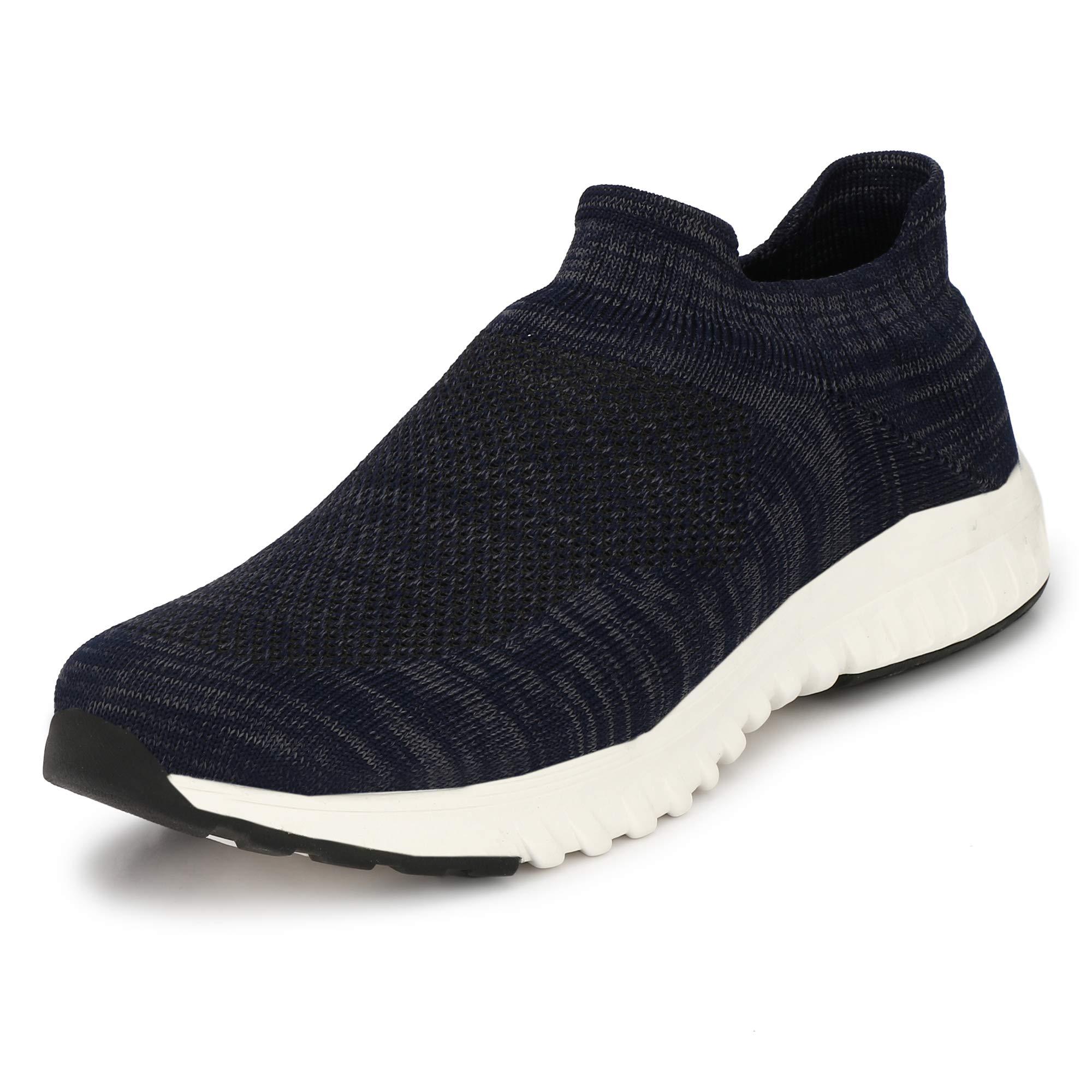WOODBAY Mens Grey Running Shoes (10, Navy Blue) (B07VRB5L2L) Amazon Price History, Amazon Price Tracker