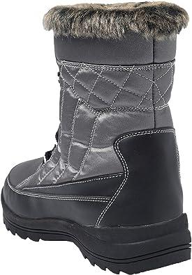 Shenda Women's Drawstring Snow Boots Fur Lined Winter Boots