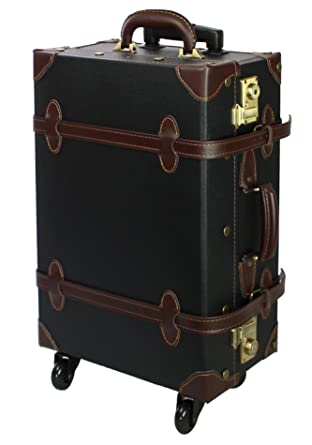 Amazon.com | MOIERG Vintage Trolley Luggage 2tone TSA | Suitcases