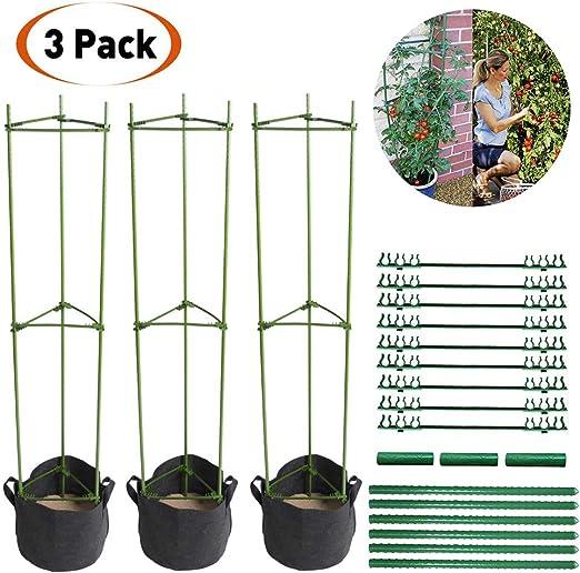 LIBRNTY 3pcs Apoyo para Plantas, Soporte para Jaula de Jardín ...