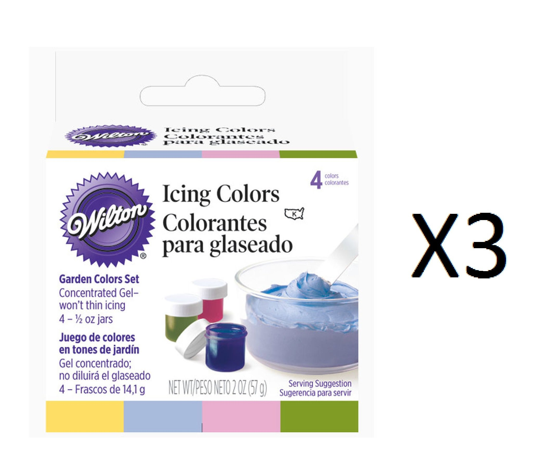 Bulk Buy: Wilton Icing Colors 1/2 Ounce 4/Pkg Garden Tone W601-4240 (3-Pack)