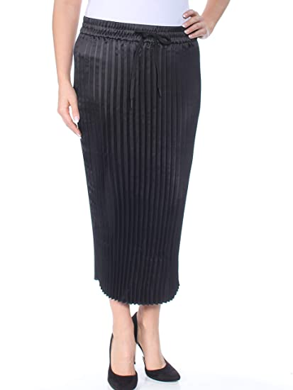 great variety models discount collection find workmanship DKNY Women's Split Hem Pleated Skirt (Black, Large) at ...