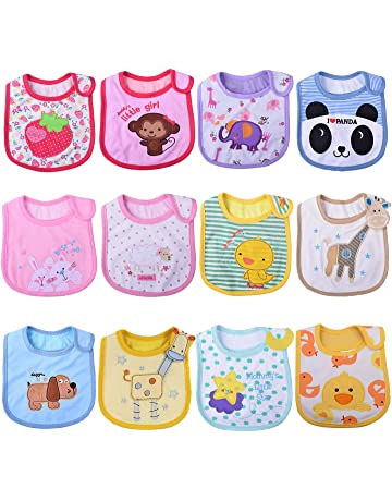 425e6deab3e Tomkity 10x Impermeables Baberos del Bebé Baberos Bandana para Niño