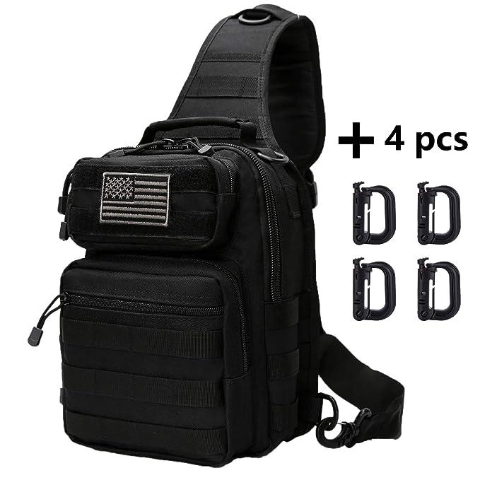 Neasyth Tactical Sling Bag Backpack Shoulder Chest Crossbody Bag Casual Outdoor Sport Travel Hiking Multipurpose Anti Theft Cross Body Bags Daypacks for Men