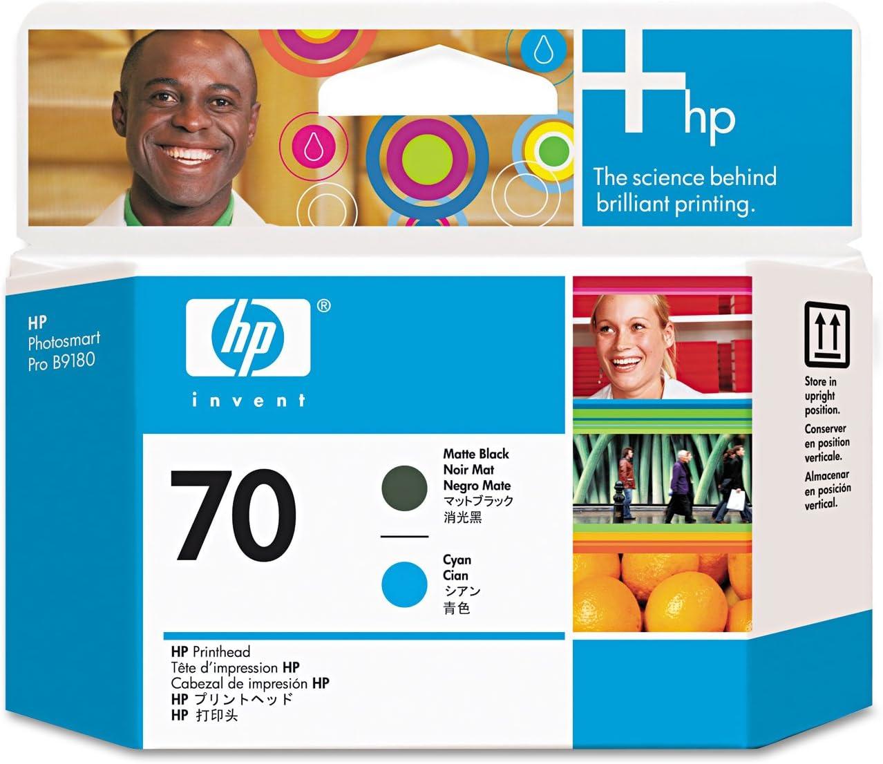 HP Cabezal de impresión DesignJet 70 negro fotográfico/gris claro - Cabezal de impresora (HP Designjet Z2100, Z3100, Z3200, Inyección de tinta, Negro, Gris claro, C9407A, 70 g, 28 x 143 x 132
