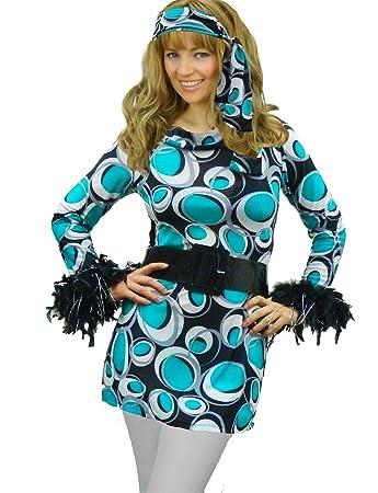 Yummy Bee Hippy Disco Mod Plus Size 8 16 Fancy Dress Costume 60s