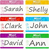 Name Tag Labels Hello My Name is Perforation Line Design Identification Colorful School Office Stickers 1 Roll 200 Stickers