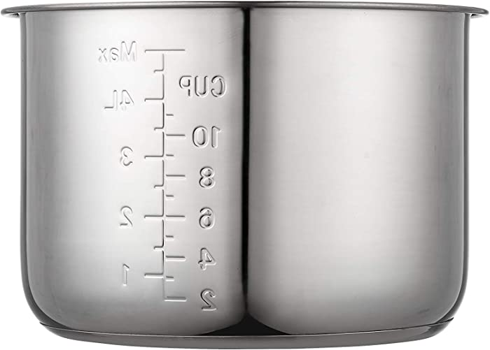 """""""GJS Gourmet Stainless Steel Cooking Pot Compatible with 6Qt Fagor Electric Pressure Cooker 670040230, 670041880, 670041930, 670040230,670041460"""". This pot is not created or sold by Fagor."""