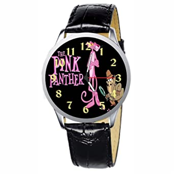 LCW057-1 New Pink Panther Stainless Wristwatch Wrist Watch