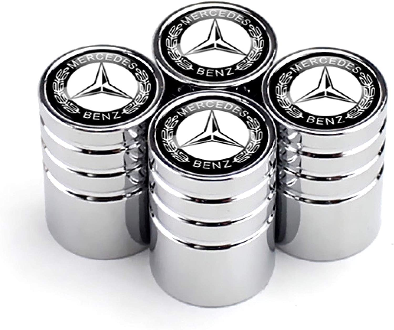 CaserBay Titanium Black Chrome Car Wheel Tire Valve Stem Caps Logo Emblem Decoration For Car Styling 4 Pcs Set Chrome