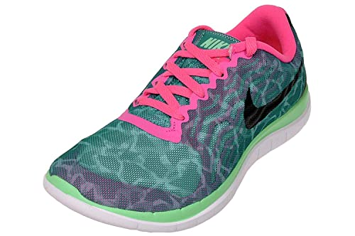 online store 4708d 9a091 Amazon.com   Nike Women s WMNS Free 4.0 Print, RDNT Emerald Black-Mint-Pink  Power   Running