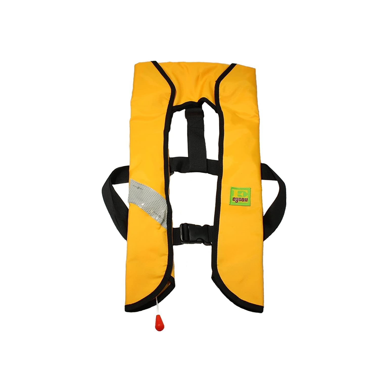 Lifesaving Proプレミアム33 g手動インフレータブルPFDサバイバル浮力カーブパドルスポーツライフベスト  イエロー B01N9Q1IQC