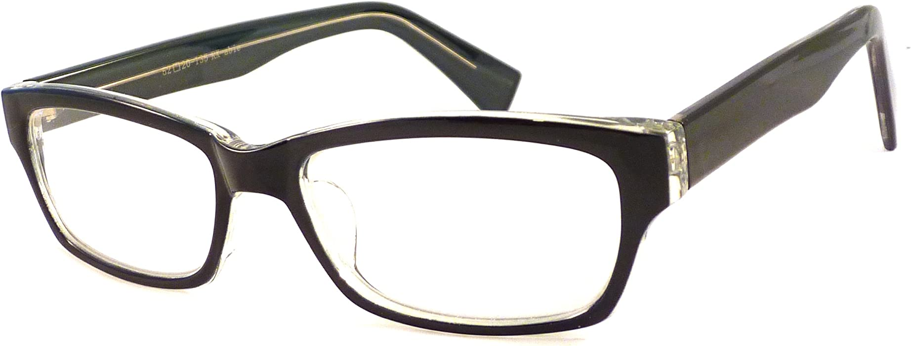 334e953883 Amazon.com  ITALO Designer Retro Thick Frame Rx-able Clear Lens Eye Glasses  GREEN CLEAR  Clothing
